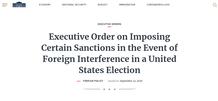EO-Foreign Interference
